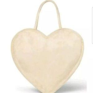 Erin Fetherston Heart Shaped Tote Handbag Tan!